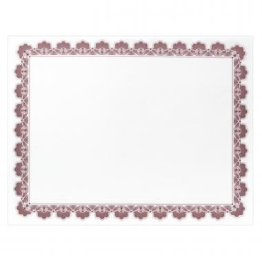 Maroon Scalloped Certificate Paper