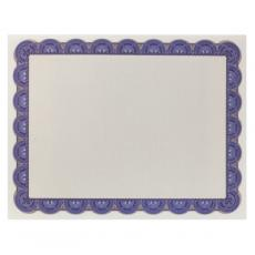 Classic Border - Blue & Gold Scalloped Certificate Paper