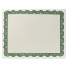 Classic Border - Green & Gold Scalloped Certificate Paper