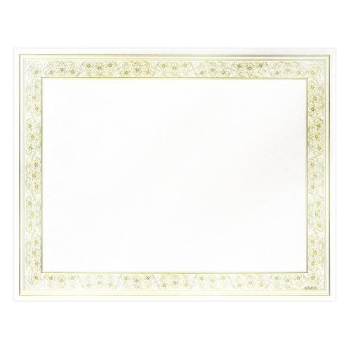Gold Foil Certificate Paper