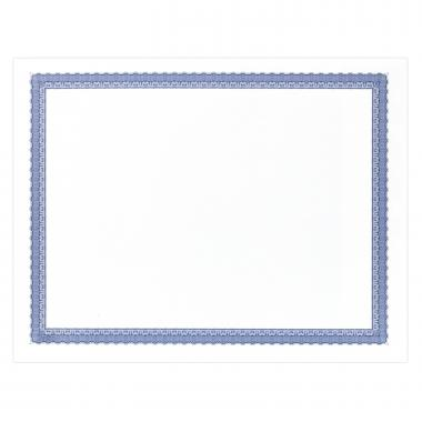Blue Bordered Certificate Paper