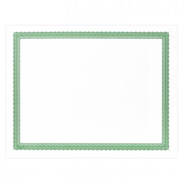 Green Bordered Certificate Paper