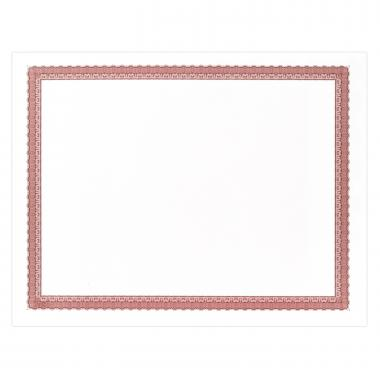 Red Bordered Certificate Paper