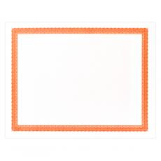 Classic Border - Orange Bordered Certificate Paper