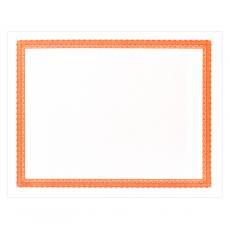 Award Certificate Paper - Orange Bordered Certificate Paper