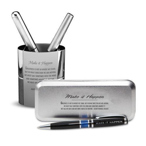 Make It Happen Chrome Pen Gift Set
