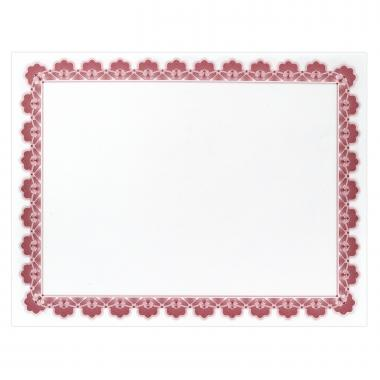Red Scalloped Certificate Paper