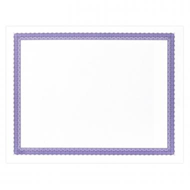 Purple Bordered Certificate Paper