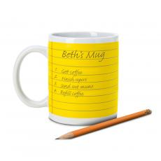 Ceramic Mugs - Notepad Mug