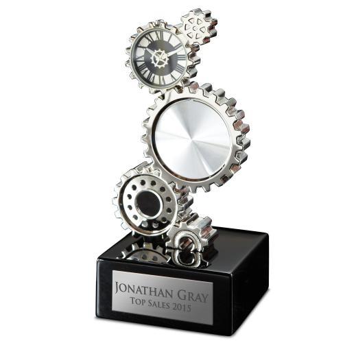Personalized Gear Clock Award