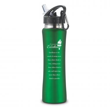 Commitment to Excellence Flip-Top 26oz Water Bottle