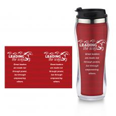 Travel Mugs - Leading the Way Flip Top Travel Mug