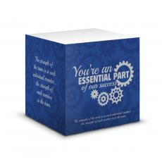New Products - You're An Essential Part Self-Stick Note Cube