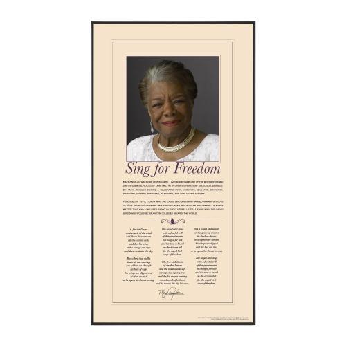Maya Angelou Motivational Poster