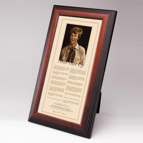 Amelia Earhart Framed Desktop Print