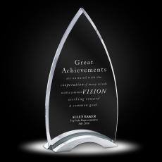 Glass Trophies - Patterson Jade Glass Award