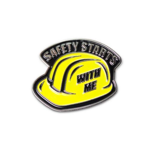 Safety Hardhat Lapel Pin
