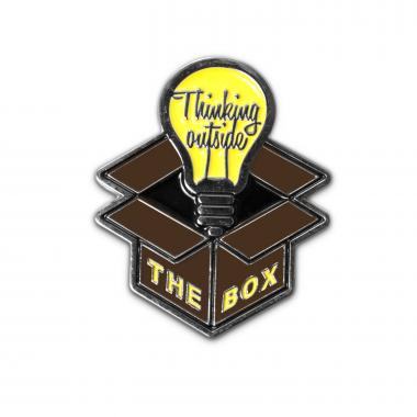 Thinking Outside the Box Lapel Pin