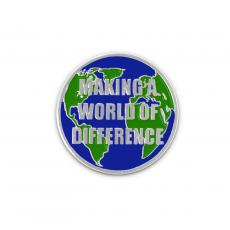 Appreciation Pins - Making a World of Difference Lapel Pin