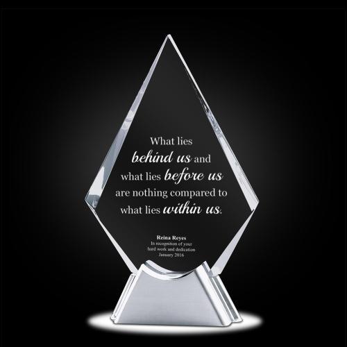 Diamond Starfire Crystal Award