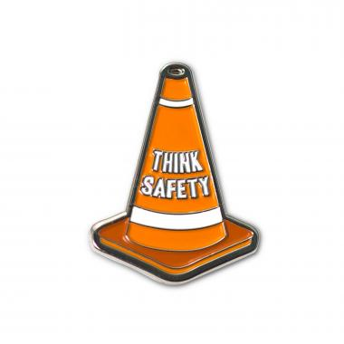 Safety Cone Lapel Pin