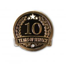 New Awards - 10 Years of Service Lapel Pin