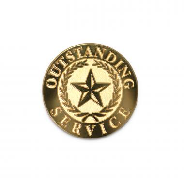 Outstanding Service Lapel Pin