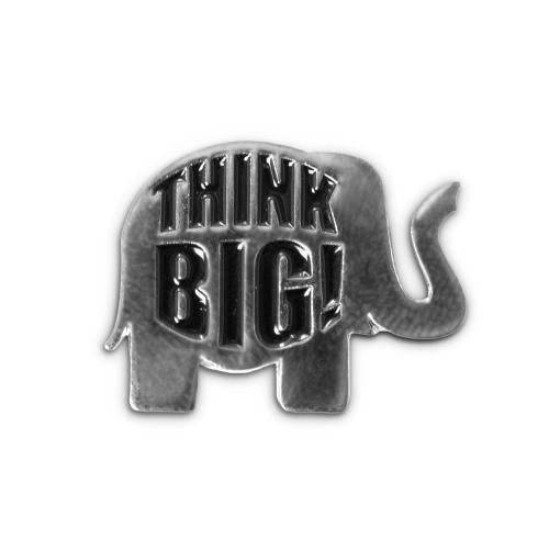 Think Big Elephant Lapel Pin