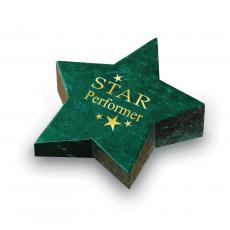 Metal, Stone and Cast Awards - Star Marble Paperweight