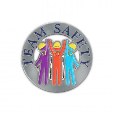 Team Safety Lapel Pin