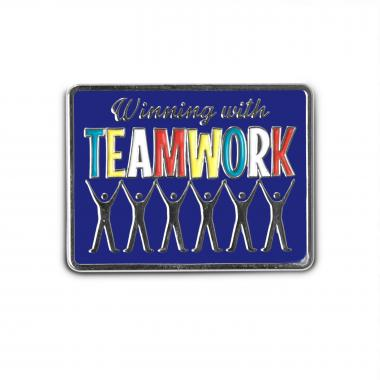 Winning with Teamwork Lapel Pin