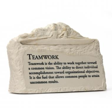 Teamwork Rowers Stone Image Paperweight