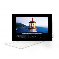 Classic Motivational Cards - Essence of Leadership Lighthouse 25-Pack Greeting Cards