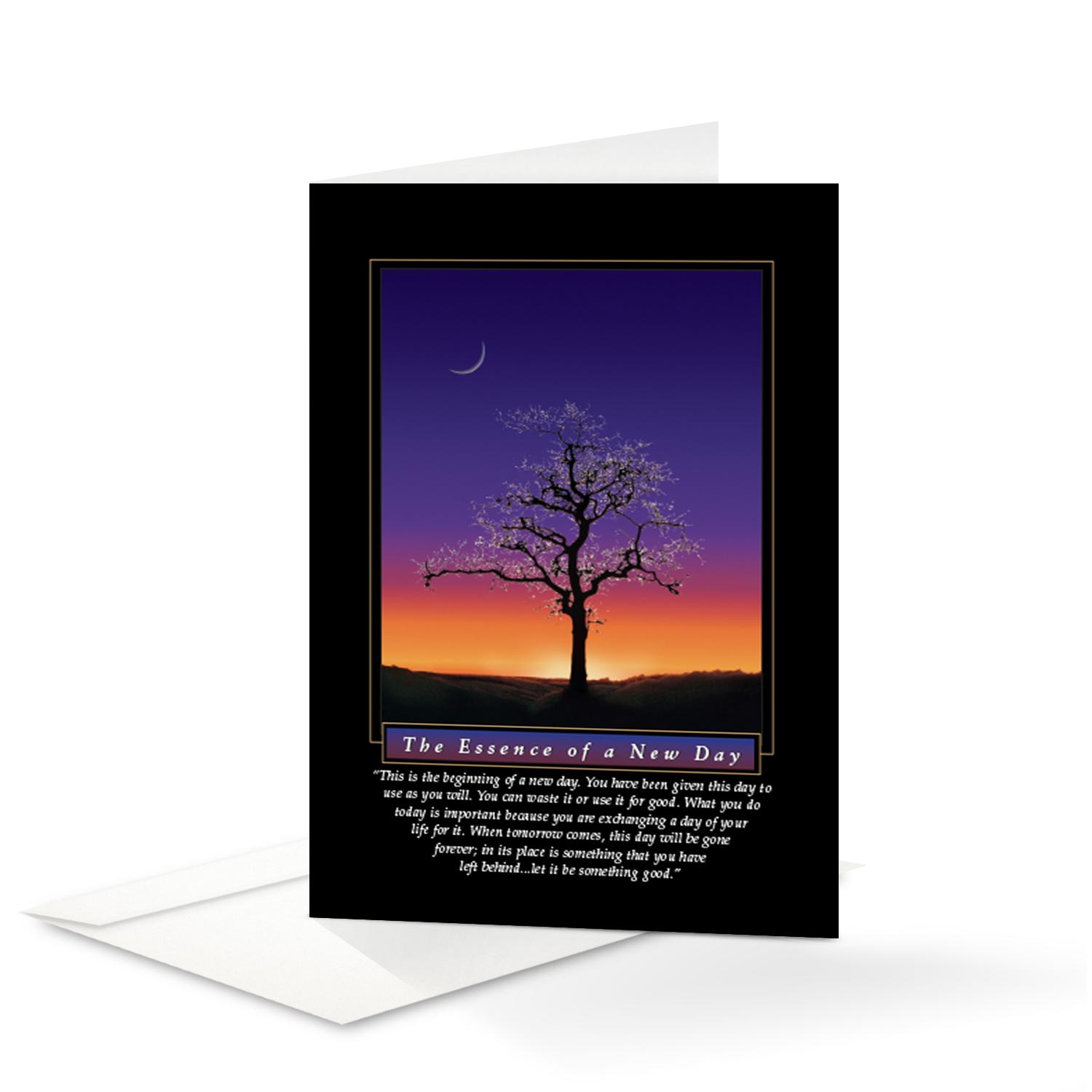 Essence of new day 25 pack greeting cards successories essence of new day 25 pack greeting cards kristyandbryce Gallery
