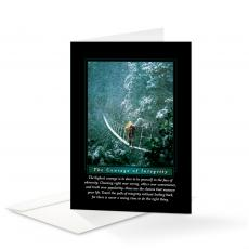 Classic Motivational Cards - Courage of Integrity 25-Pack Greeting Cards