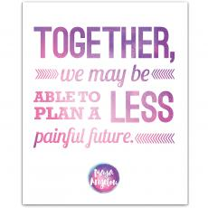 New Products - Together - Maya Angelou Inspirational Art