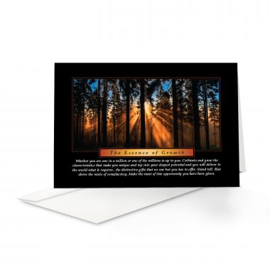 Essence of Growth Greeting Cards