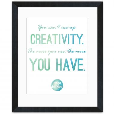 Creativity - Maya Angelou Inspirational Art