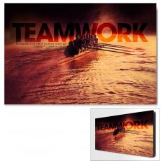 Modern Motivational Art - Teamwork Rowers Motivational Art