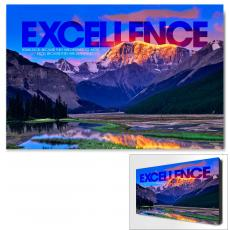 Modern Motivational Art - Excellence Mountain Motivational Art