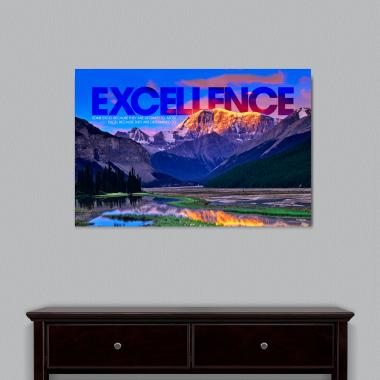 Excellence Mountain Motivational Art