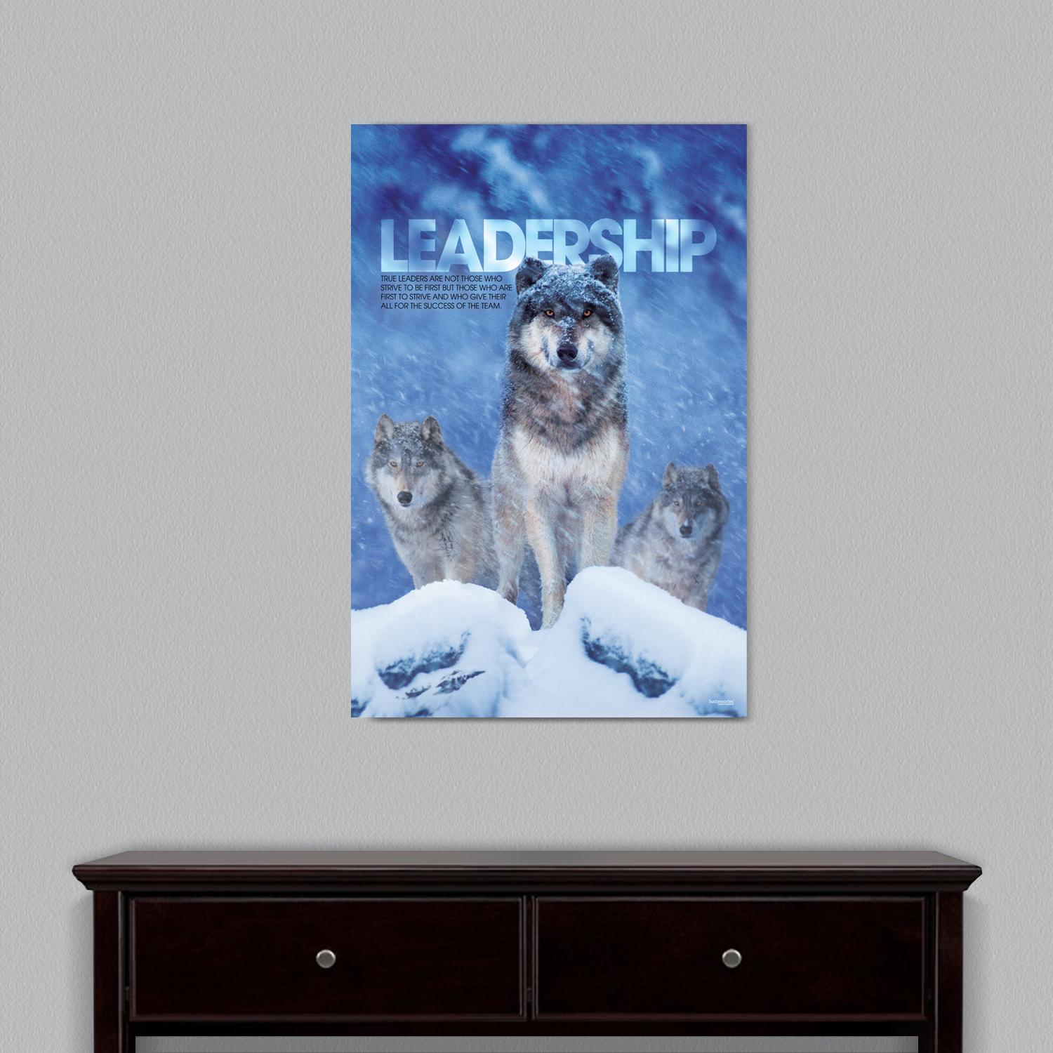 Leadership Wolves Motivational Art