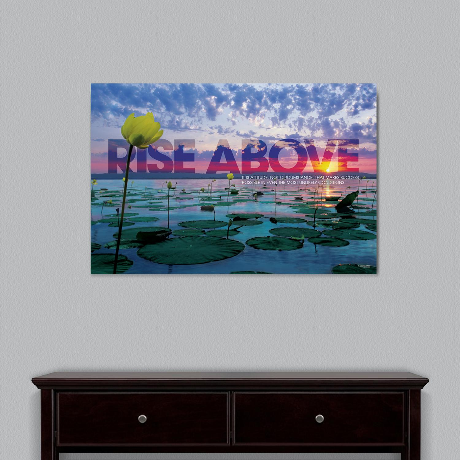 Rise Above Lily Pad Motivational Art