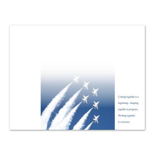 Teamwork Jets Certificate Paper