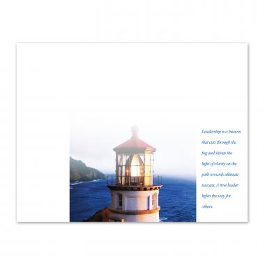 Essence of Leadership Lighthouse Certificate Paper