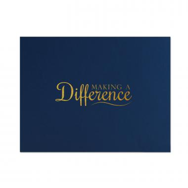 Making a Difference Linen Certificate Folders