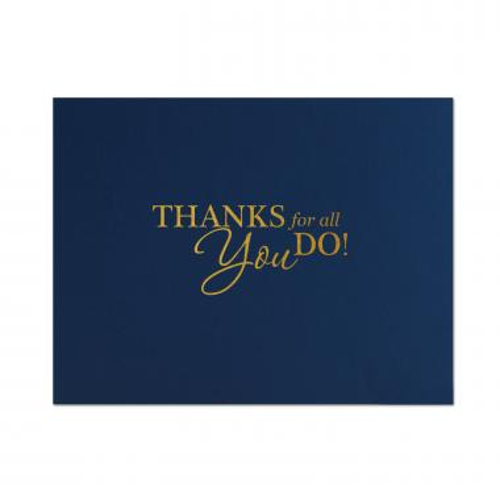 Thanks for All You Do Linen Certificate Folders