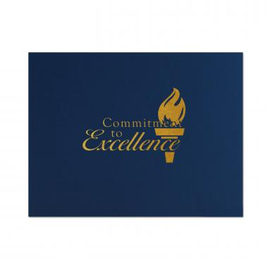 Commitment to Excellence Flame Linen Certificate Folders