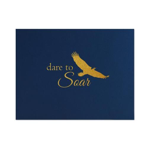 Dare to Soar Linen Certificate Folders