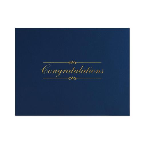 Congratulations Linen Certificate Folders
